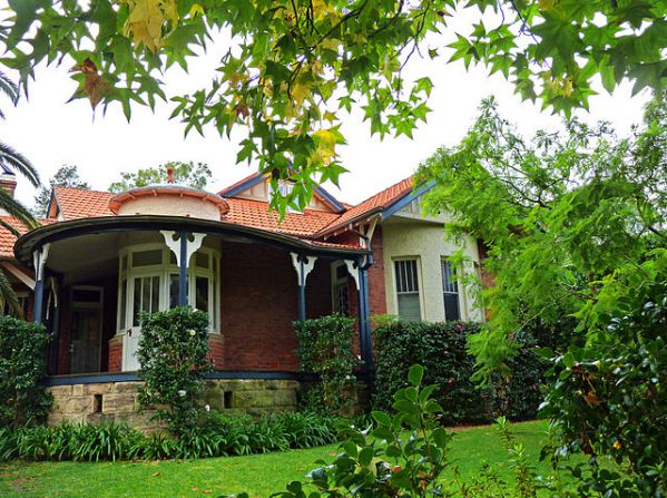 Federation Arts & Crafts style house on Waimea Road, Lindfield, New South Wales, Australia.